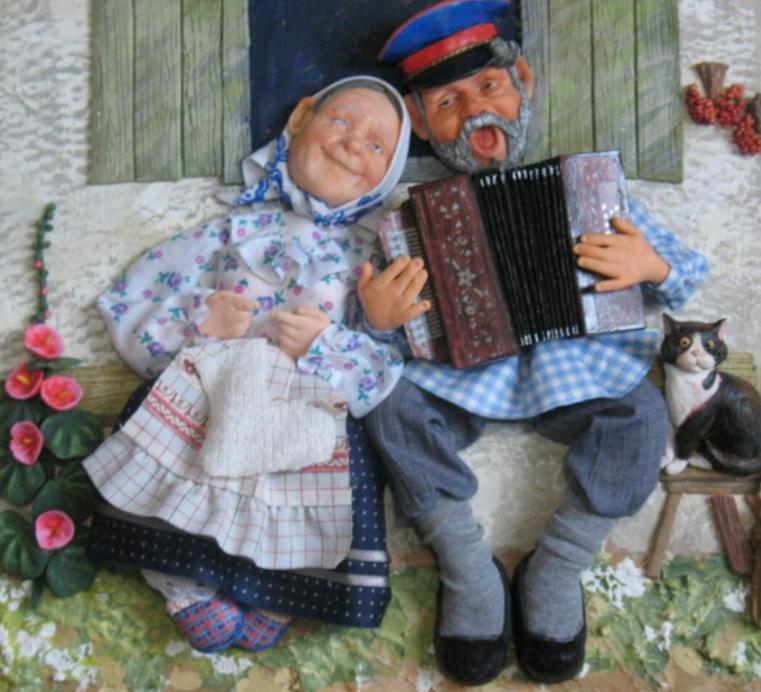 Открытка домик с окошком для бабушки и дедушки