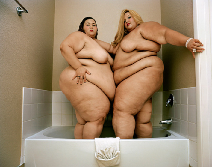 Fat naked women together